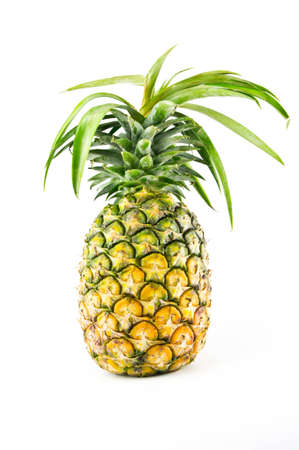 tropical fruit: pineapple isolated on white