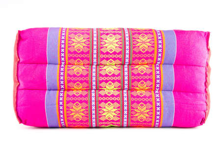 thai beautiful handmade pillow isolated on white