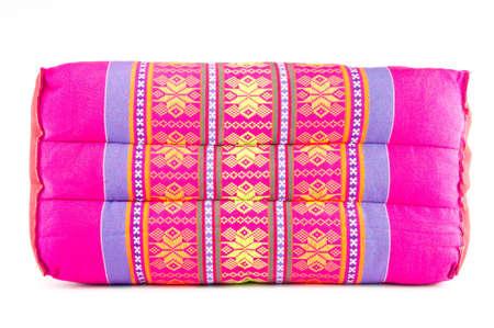 thai beautiful handmade pillow isolated on white