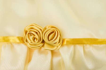 fabric gold rose