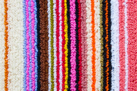 colorful stripped towel