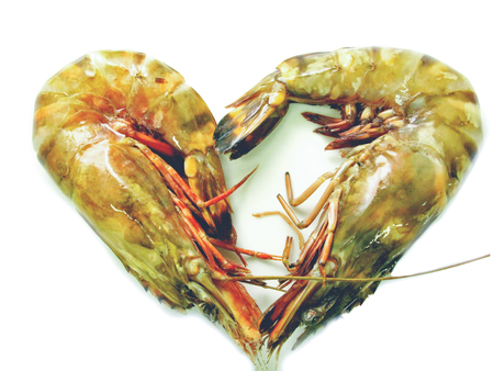 tiger shrimp: close up fresh tiger shrimp for cooking or ingredient with orther menu in restaurant