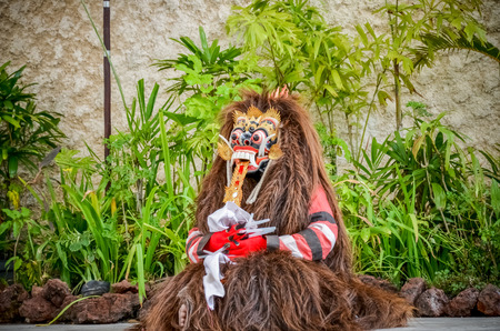 art show: Barong Dance is an acting or performance art show of locality in bali indonesia