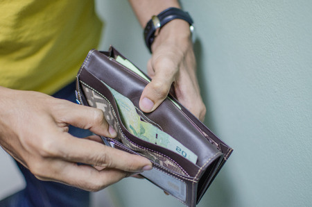 enough: a man not have enough money in his wallet