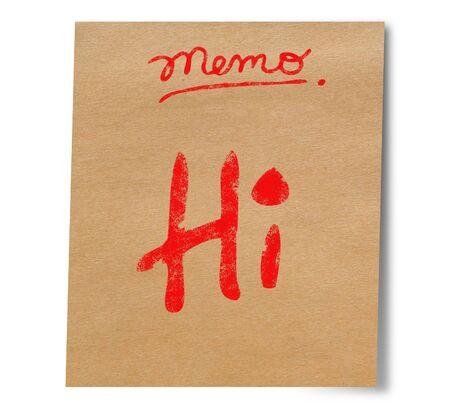 artoon: Paper note stick on wall Hi