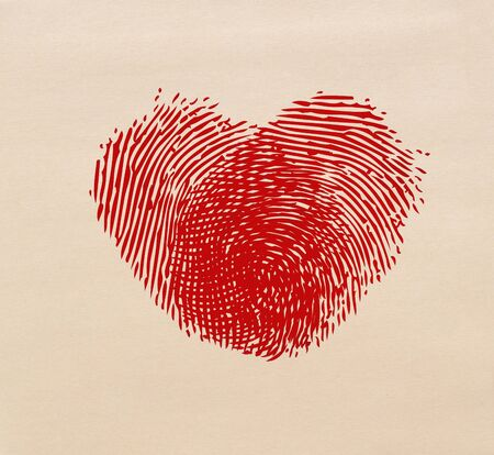 as one: Two fingerprints as one heart