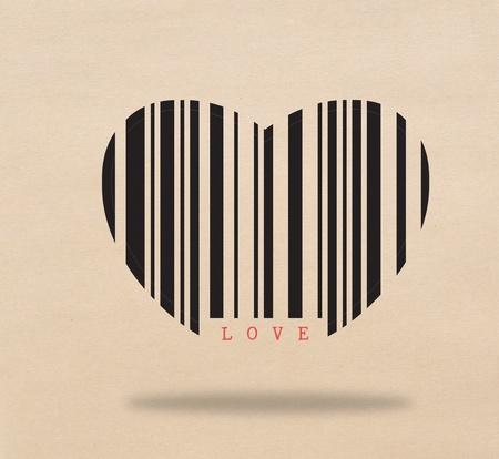 Bar code of love Stock Photo - 17473250