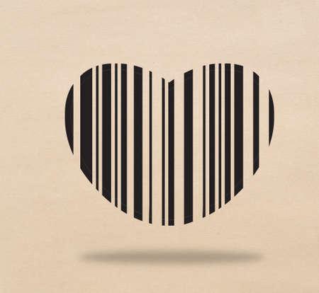Bar code of heart Stock Photo - 17473249