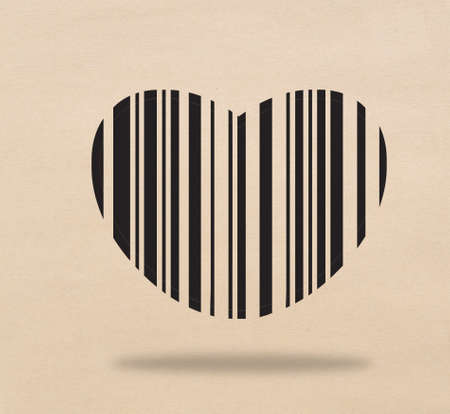 Bar code of heart Stock Photo - 17473249