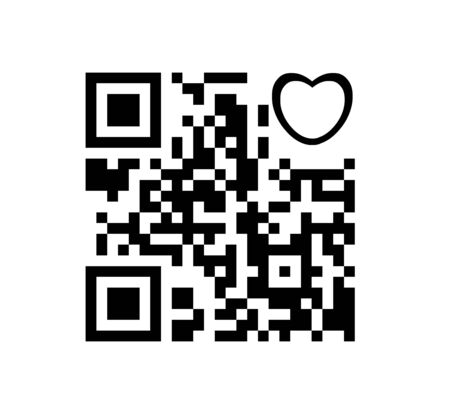 QR code digital heart Stock Photo - 17473331