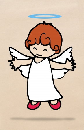 Little angel cheerful photo