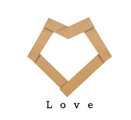 paper heart origami Stock Photo - 17466939