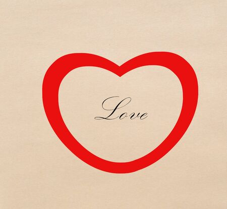 Red heart with love letter Stock Photo - 17473303