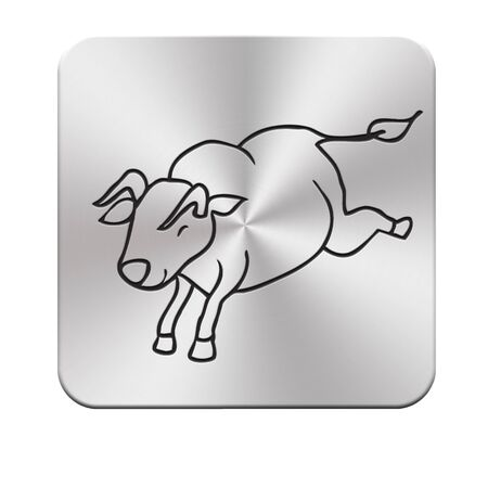 aluminum texture: Aluminum texture bull
