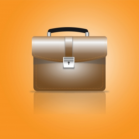 Brown business brief case  Stock Photo