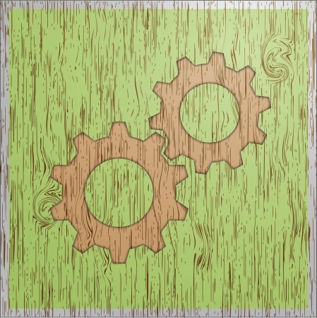 Gear wood texture vintage style icon photo