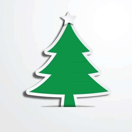 art work: Christmas tree paper craft art work