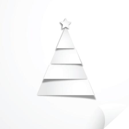 Christmas tree paper craft art work