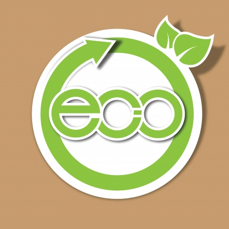 Eco recycle paper tag sign