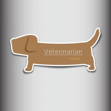 Veterinarian clinic dog shape tag