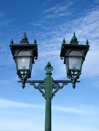 Street lamp in Thai style design photo