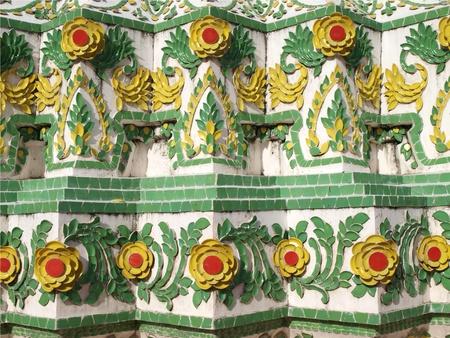 Colorful ceramic Thai art pattern Stock Photo