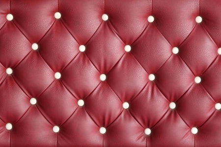 Red leather texture of armchair photo