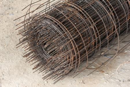 Steel mesh infrastructure of building photo