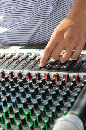 Mixer sound engineer control panel photo