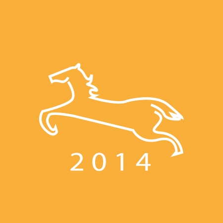 New year 2014 Year of horse Vector