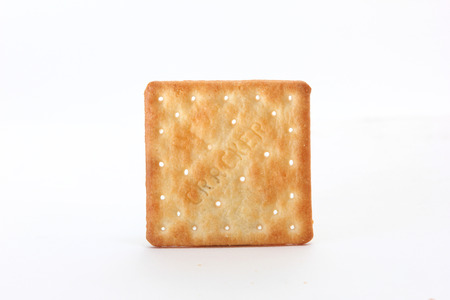 茶色の正方形のクラッカー スタジオ撮影 写真素材