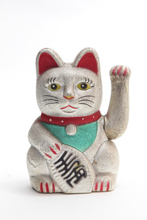 Maneki Neko Japanese lucky cat photo