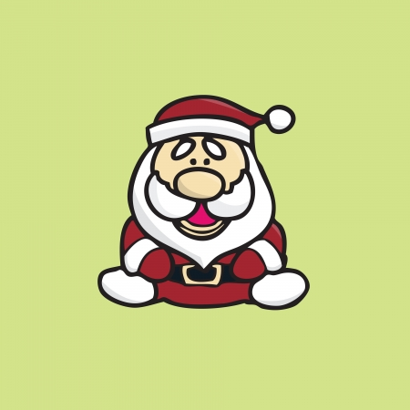 Santa claus smiling and sitting isolated Vector