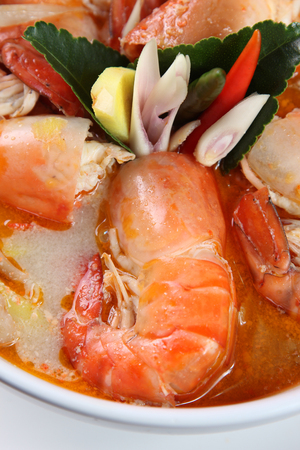 Tom Yum Kung Thai popular menu spicy soup photo