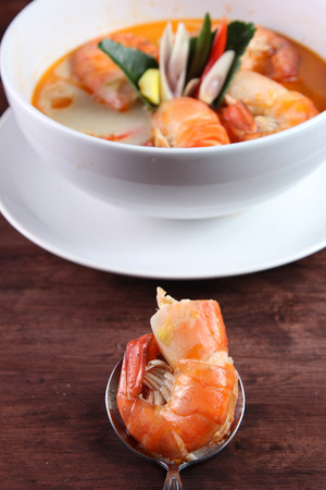 popular soup: Tom Yum Kung Thai popular menu spicy soup