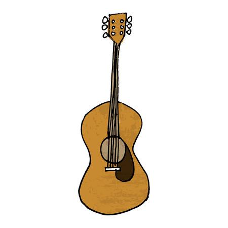 Vector of guitar retro drawing Vector