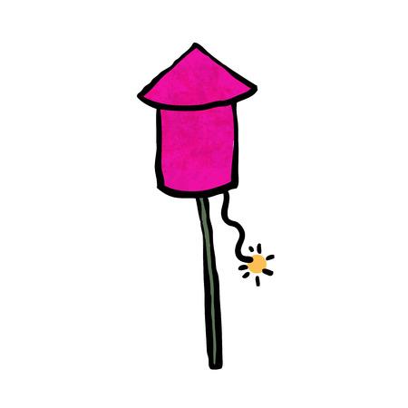 prepare: Pink firework prepare for launch