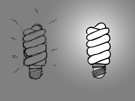 iluminacion led: Iluminaci�n de bombilla espiral electr�nico moderno