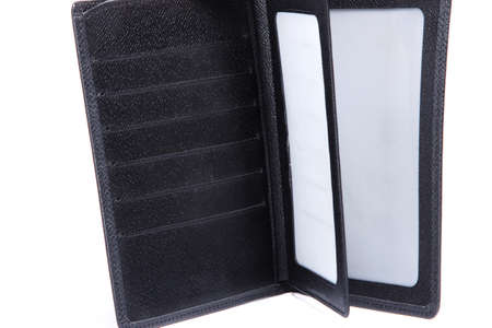 empty wallet: Black empty wallet on white