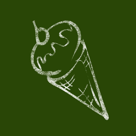 Ice cream cone drawing on blackboard photo