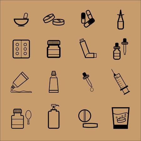 dosaggio: Forma di dosaggio Medicina farmacia farmaco Vettoriali