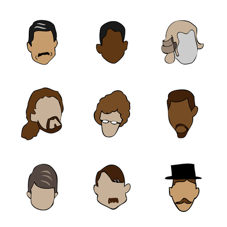 Face silhouette drawing character Vector