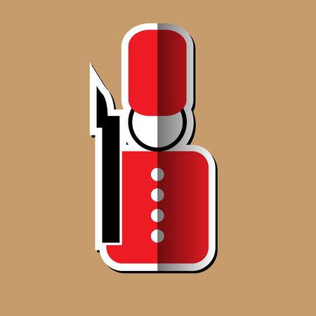 bearskin hat: English soldier icon design