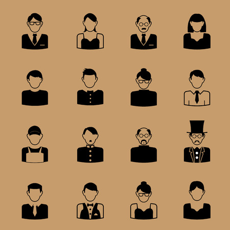 dictator: People career icon character set