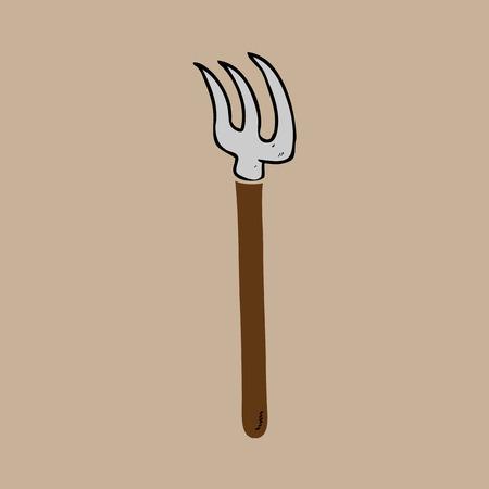 harrow: Harrow fork agriculture tool cartoon