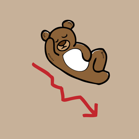 bearish market: Bearish stock market regression cartoon