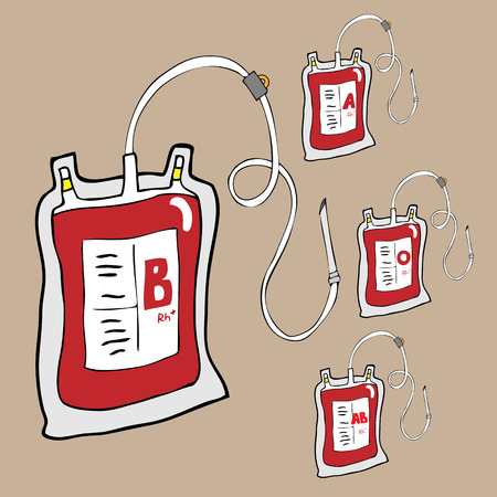 Blood bags for donation cartoon vector Vector