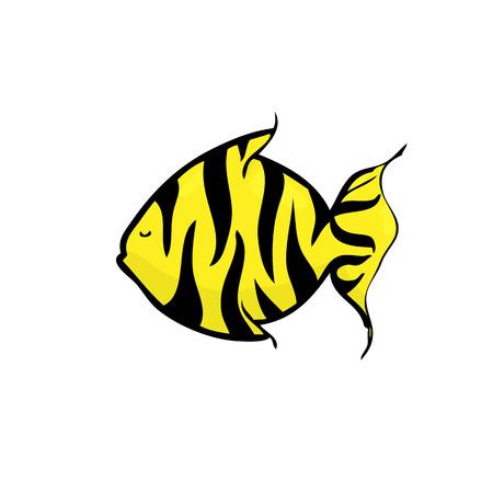 Ocean butterfly fish cartoon vector Vector