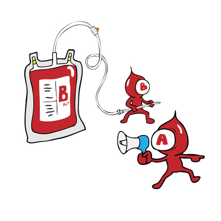 Naughty blood group life protection Vector