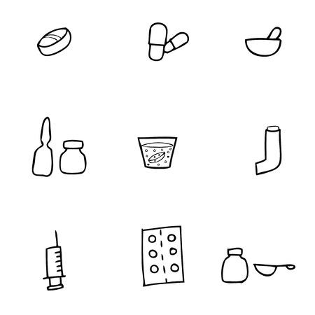 dosage: Drug dosage form Chinese brush drawing